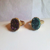 "Darling ""Crowned with Glory"" Druzy Quartz Ring"