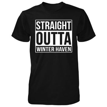 Straight Outta Winter Haven City. Cool Gift - Unisex Tshirt