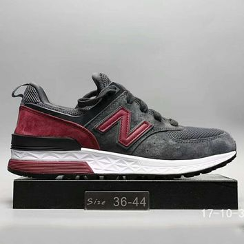 New Balance Fashion Casual All Match N Words Breathable Couple Sneakers Shoes Dark Grey G A0 Hxydxpf