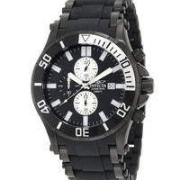 Invicta 1480 Men's Sea Spider Chronograph Black Dial Dive Watch