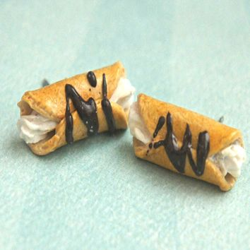 Cannoli Stud Earrings