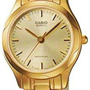 Casio Women's LTP1275G-9A Gold Stainless-Steel Quartz Watch with Gold Dial