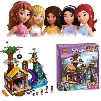 739 PCS Bela 10497 Girl Friends Adventure Camp Tree House Building Set Learning Blocks Compatible 41122