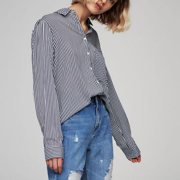 Long sleeve printed shirt - See all - New - Woman - PULL&BEAR United Kingdom