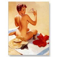 Vintage Beach Beauty Pin Up Girl Postcards