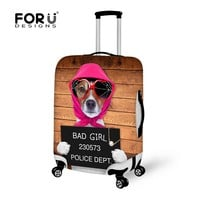 FORUDESIGNS Most Sell Elastic Luggage Cover For 18-28inch Suitcase Polyester With Cute Animal Stretch Protector Suitcase Covers