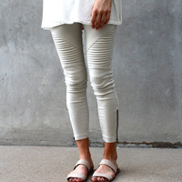 Chicago Moto Legging (Lt.Grey)