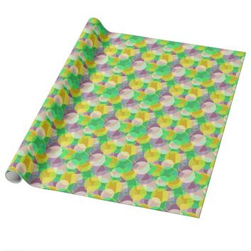 Stained glass geometric pattern wrapping paper