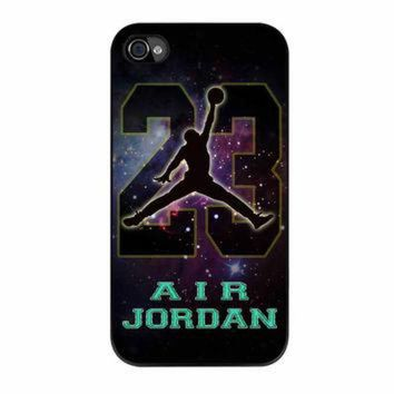 DCKL9 Nike Air Jordan Galaxy Nebula Star iPhone 4s Case