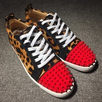 Christian Louboutin CL Man Women Fashion Casual Shoes Men Fashion Boots fashionable Casual leather Breathable Sneakers Running Shoes Sneakers