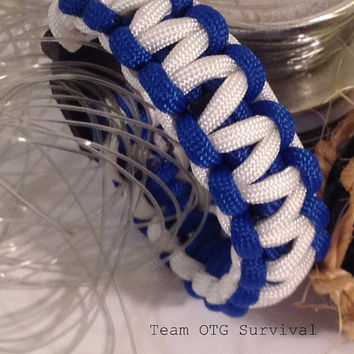 Survival Bracelet: Standard Fishing Tackle 550 Paracord Emergency Gear