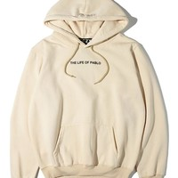 Women/Men Fashion Long Sleeve Khaki Pullover Sweater Sweatshirt Hoodie
