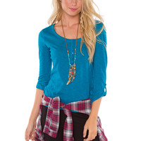 Pieces Of Me Top - Teal