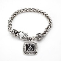 Back to School! Class of 2014 Graduation Gift for High school & College Students Charm Bracelet