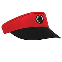Visor in Red and Black by Southern Proper