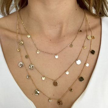 Golden Sunshine Layered Necklace