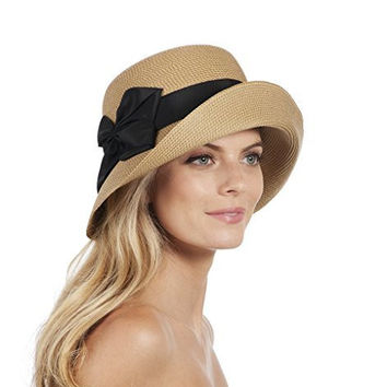 Eric Javits 13754 Gwyn Hat (Natural/Black)