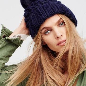 Free People Mile High Pom Beanie
