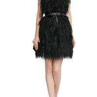 Fendi - Bandeau Dress with Silver Fox