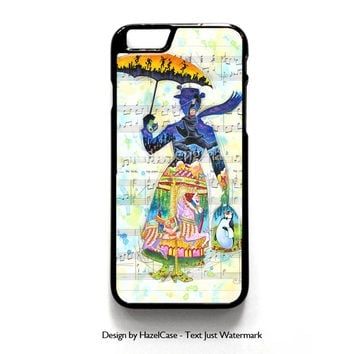 Mary Poppins Art for iPhone 4 4S 5 5S 5C 6 6 Plus , iPod Touch 4 5  , Samsung Galaxy S3 S4 S5 Note 3 Note 4 , and HTC One X M7 M8 Case Cover