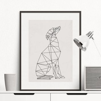 Dog Minimal Greyhound Poster, Wall Art Print Canvas Minimalist Poster, Home Decor, Frames Not included
