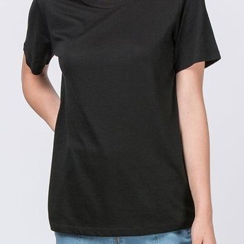 Sam Curve Cotton Modal Tee in Black
