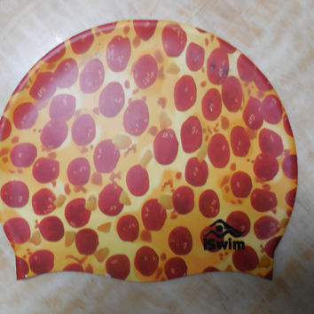 Pizza Silicone Swim Cap