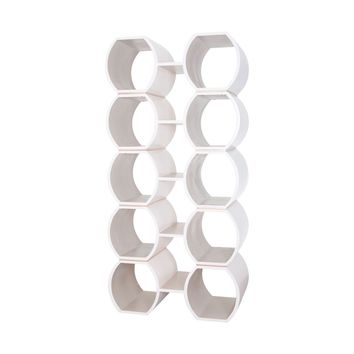 Pamela Bookcase Cappuccino Foam,Grey,Gold