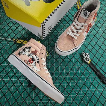 "Disney Mickey x Vans Vault OG SK8-Hi LX "" Mickey & Minnie "" VN0A38GEUPN Shoes - Best Online Sale"