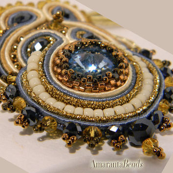 Autumn in Tuscany   -Soutache Necklace - Made in Italy Jewels