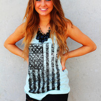All American Girl Flag Tank Top - (Click for Color Options)