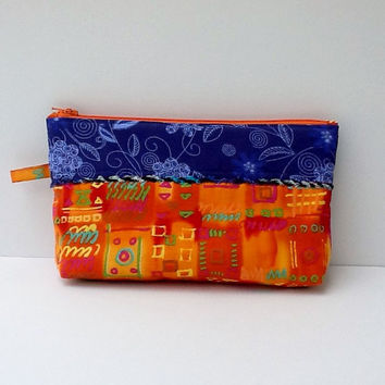 Cords Storage/Earphones Organizer/Zippered Pouch/Eyeglasses Pouch/Makeup Case/Handmade Cosmetics Purse/Jewelry Bag/Phone Tablet Accessories