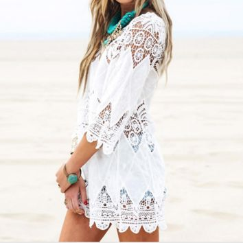 Bohemian Crochet Cover Up