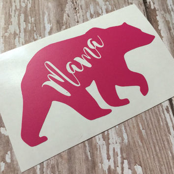 Mama |  Bear | Car  Decal | Laptop Decal |  Tumbler Decal |
