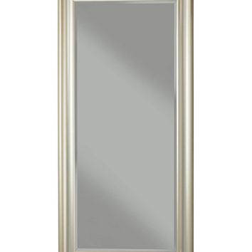 Full Length Leaner Mirror With a Rectangular Polystyrene Frame, Silver
