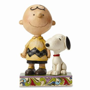 Peanuts Jim Shore Charlie Brown And Snoopy Friendship Figurine