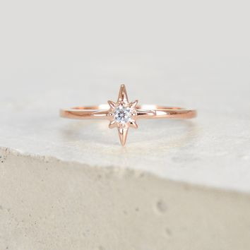 North Star Ring - Rose Gold