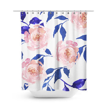 Gypsy Heart Floral Shower Curtain