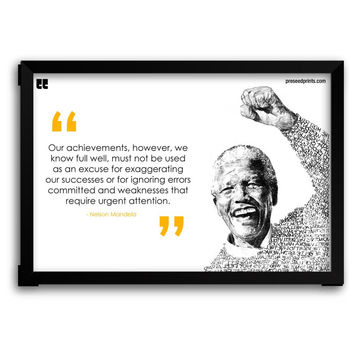 Preseed Prints Motivational Quote by Nelson Mandela Matte Framed Poster