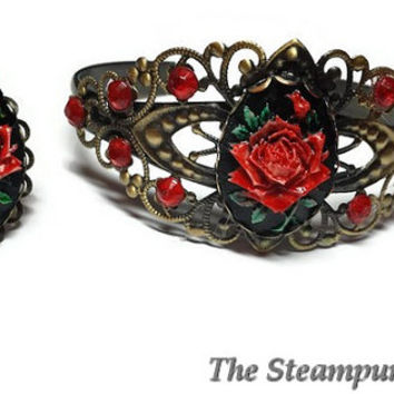 SALE Antique Style Bracelet and Ring Combo - Adjustable ring and bracelet