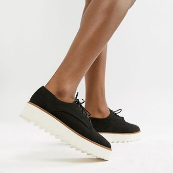New Look Chunky Sole Lace Up Shoe at asos.com