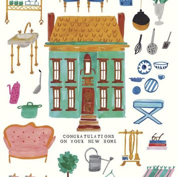 New Home Dollhouse Card