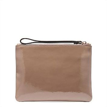 NEW ARRIVED LOVELY LEATHER POUCH MED SIZE ZIP POUCH SMALL SIZE ZIP POUCH WALLET CLUTCH