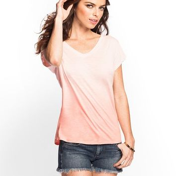 Ombre Relaxed Boyfriend Tee | GUESS.com