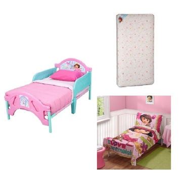 Toddler Character Bed ,Toddler Mattress, and Complete Bedding Set