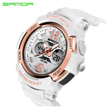 SANDA Brand Electronic Sport Children Watch Kids Watches Girls Boys Clock Child LED Digital Wristwatch for Girl Boy Surprise Gif