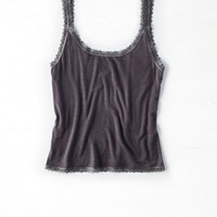 AEO Women's Soft & Sexy Lace Trim Cami