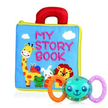 Baby Toys Newborn Cloth Books Educational Intelligence Development Handbell Rattle Toys Infant Quiet Book Stroller Toddler Toys