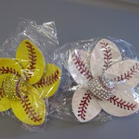 Fastpitch Softball or Baseball Flower Hair Clip $9.95