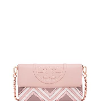 Tory Burch Fleming Geo-leather Clutch